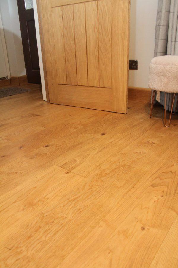 Brushed & Natural Oiled Oak Floor bedroom