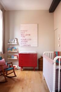 Unfinished Oak Nursery Floor