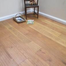 Medium Hand Scraped Antique Oiled Engineered Oak Flooring