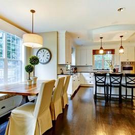 Oak Flooring for Your Kitchen - 15 x 189 Hand Scraped Vintage Engineered Oak Flooring