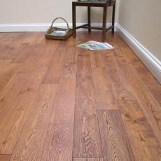 Dark Double Brushed & Dark Oiled Solid Oak Flooring