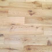 Natural Brushed & Oiled Solid Oak Flooring laid