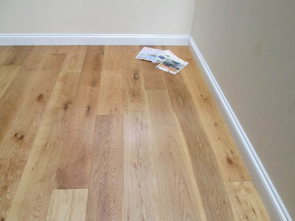 Natural Brushed & Natural Oiled Birch Backed Engineered Oak Flooring