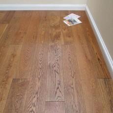 Dark Double Brushed Dark Oiled Engineered Oak Flooring
