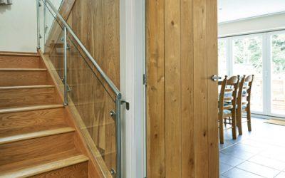 Rustic Oak Ledged Door