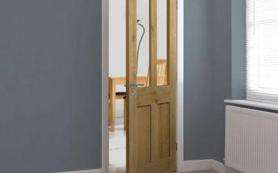 Rustic Oak 4 Panel Glazed Door
