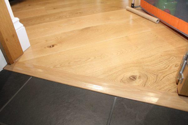 wood to wood oak door threshold