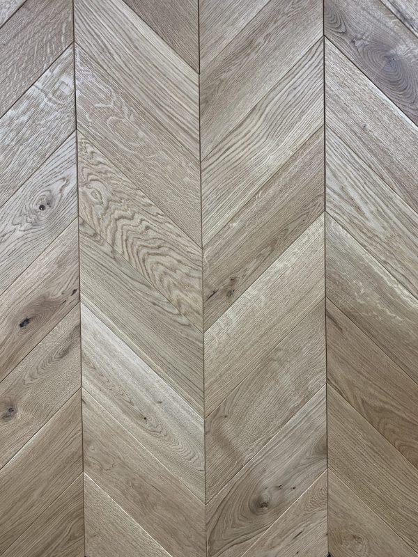 Pembroke chevron oak wood flooring