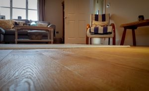 Oak floor laid