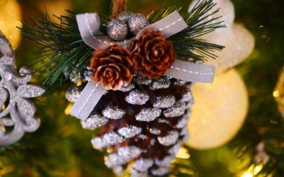 An oak floor and a Christmas Tree